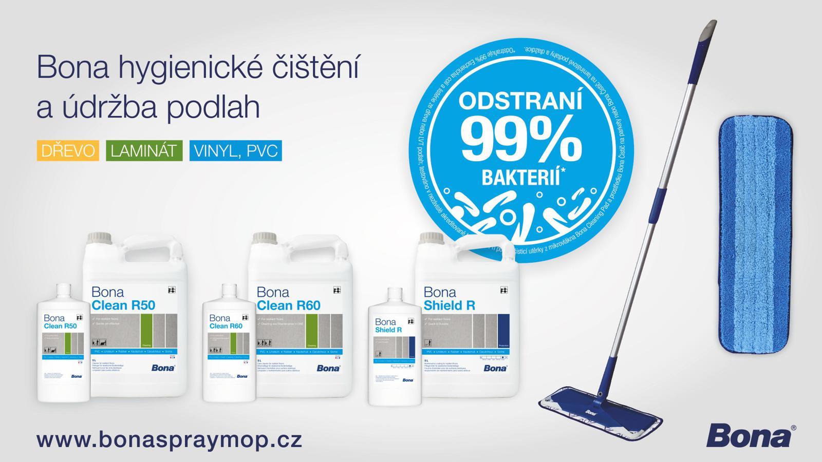 bona mop 99% odstrani bakterii
